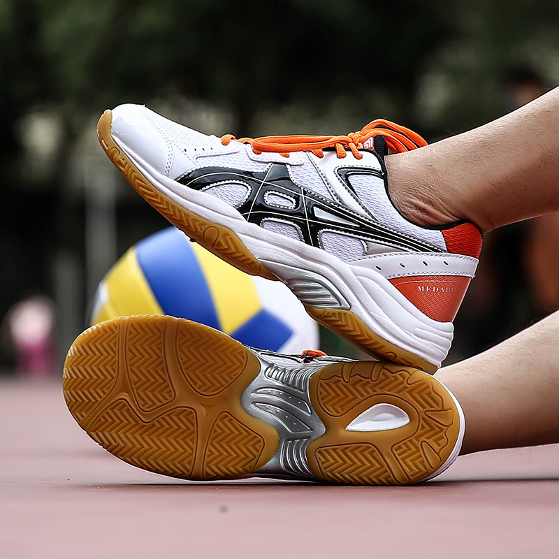 Unisex Professional Volleyball Shoes Anti Slip Indoor Sport Training Shoes Breathable Match Badminton Volleyball Shoes Sneakers