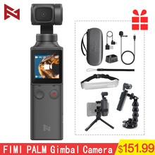 Fimi palma cardan handheld 3 axis 4k hd câmera wifi bluetooth estabilizador faixa inteligente vlog fotografia vídeo touchscreen