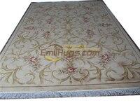 wool large carpet carpet floor Made French savonery Design Table Decor Rectangle Antique