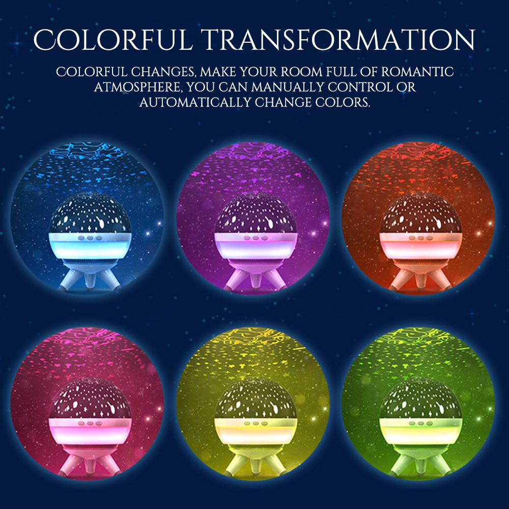 Creative Projection Lamp 15*15*17cm Add Atmosphere Multi-Color Display For Children Kids Wave Mood Lighting Automatic Close Time