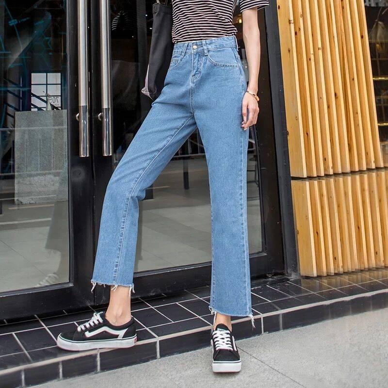 2019 New Jeans For Women Loose Denim Harem Pants Female Ankle-length Jeans Pants Cotton Blue Denim Trousers
