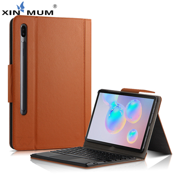 Bluetooth Detachable Keyboard For Samsung Galaxy Tab S6 10.5 2019 T860 T865 SM-T860 Tablet Magnetic PU Leather Cover Smart Funda