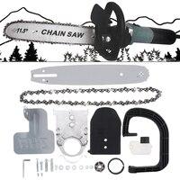 11.5 Cal M10 Upgrade mały szlifierka kątowa elektryczna piła łańcuchowa części konwerter zestaw Chainsaw uchwyt narzędzia do cięcia drewna w Piły elektryczne od Narzędzia na