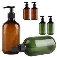 25 #2 adet şeffaf Pet plastik şişeler siyah döner kapaklı şişeler, geri dönüşümlü 300 Ml taşınabilir sabunluklar duş jeli şişeleme