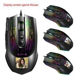 Przewodowa mysz dla graczy z USB wyświetlacz mysz do gier w wielu językach kierowca może dowolnie ustawić zdjęcia ergonomiczna konstrukcja na pulpicie laptopa