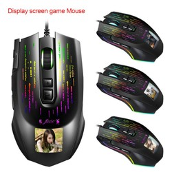 Usb Wired Gaming Mouse Display Game Mouse Multi-Taal Driver Kan Vrij Foto 'S Ergonomisch Ontwerp Voor Desktop Laptop