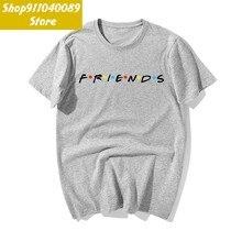Mannen Tv Vrienden Grappig Katoen Cartoon Print T-shirts 2019 Zomer Workout Casual T-shirts Ontwerp Merk Tshirt Harajuku Streetwear