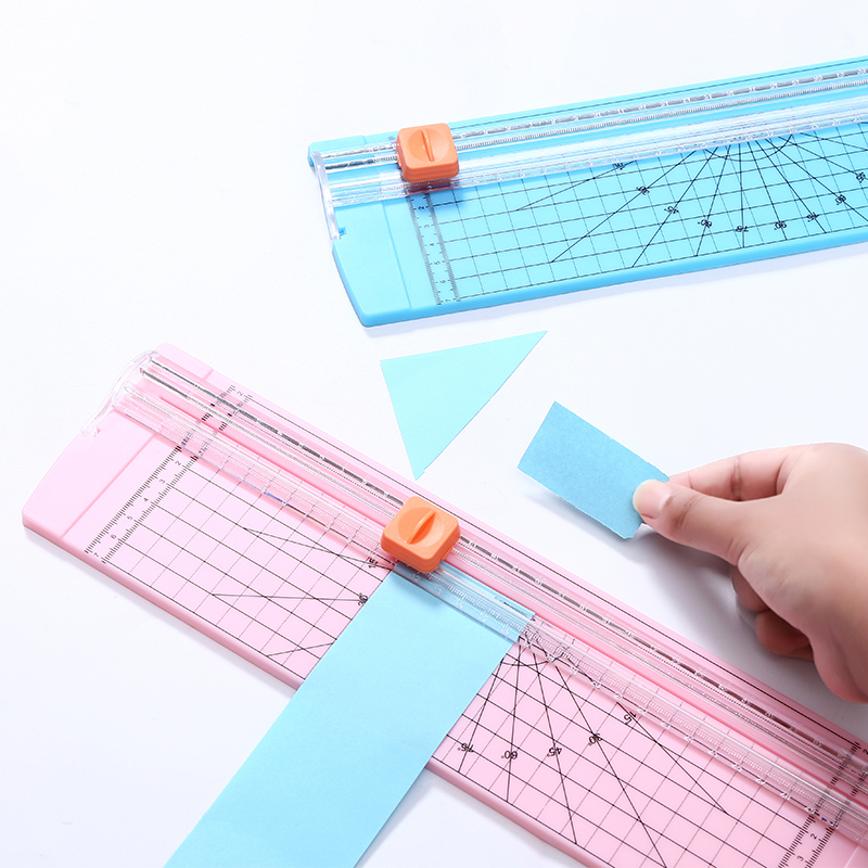 Portable Precision Paper Cutter Safety Cutting Mat Ruler for A4 A5 Paper Photo Label Scrapbooking Trimmer for Office School Kids|Cutting Mats| |  - title=