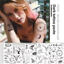 1 шт. Временные тату наклейки вечеринка украшения боди искусство большой большой подделка тату наклейка временные татуировки