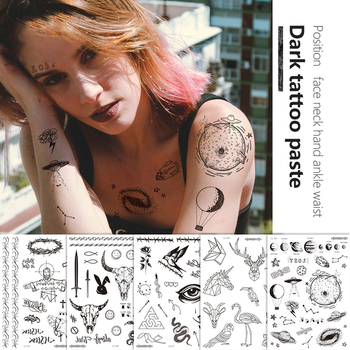 1 Pcs Temporary Tattoo Stickers Party Decoration Body Art Big Large Fake Tattoo Sticker Temporary Tattoos new 1 piece temporary tattoo sticker mechanical design full flower tattoo with arm body art big large fake tattoo sticker