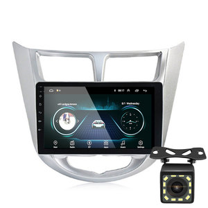Image 1 - 92 الدين أندرويد 9.1 مشغل أسطوانات للسيارة الحديثة سولاريس أكسنت فيرنا 2011 2016 راديو مسجل لتحديد المواقع واي فاي usb DAB + audio