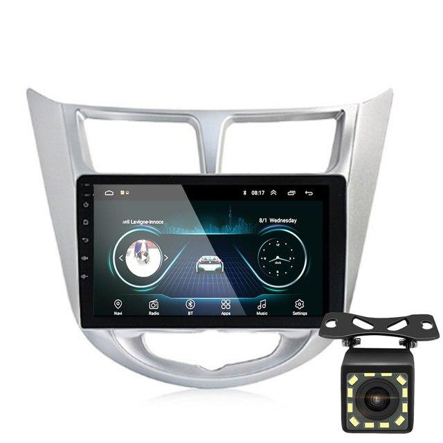 92 الدين أندرويد 9.1 مشغل أسطوانات للسيارة الحديثة سولاريس أكسنت فيرنا 2011 2016 راديو مسجل لتحديد المواقع واي فاي usb DAB + audio