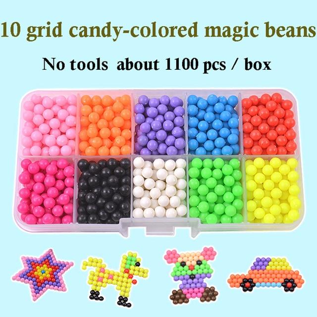 6000 pièces bricolage fait à la main garçon et fille jouets magique brume deau magique bâton perles eau bâton perles jet deau perles magiques enfants jouets