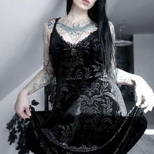 Сексуальное готическое платье для женщин летнее облегающее макси