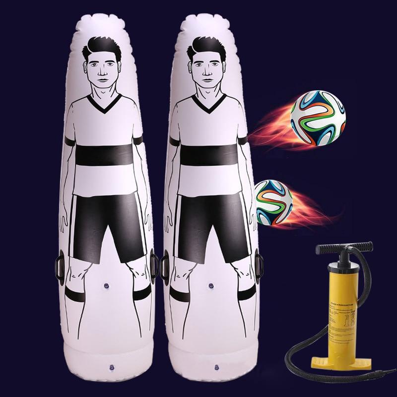 1.75m Adult Children Inflatable Football Training Goal Keeper Tumbler Air Soccer Train Dummy Wall Football Penalty Equipment Too