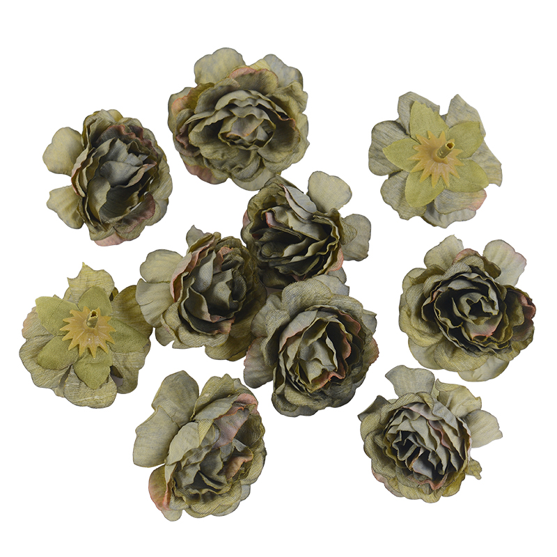 10pcs/lot Silk Roses Artificial Flowers For Wedding And Home Decorations 17