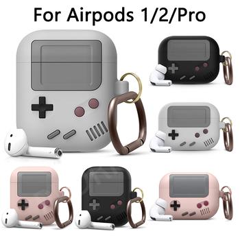 Silikonowe słuchawki etui do Airpods 2 etui ochronne do Apple airpods Pro 3 bezprzewodowa konsola do gier 3D Bluetooth odporna na wstrząsy tanie i dobre opinie PEDRPOE CN (pochodzenie) Etui na słuchawki For Airpods 1 2 Pro For AirPods 1 2 Pro Case Cartoon silicone case 3 color for choose high quality