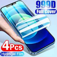 4Pcs Hydrogel Film Screen Protector For iPhone 11 12 X XR Xs Max Soft Protective Film For 6 7 8 Plus 11 12 Pro Max Full Cover