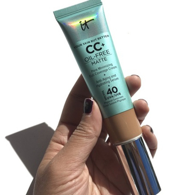 It Cosmetics Concealer Cream Matter Oil-Control Makeup Base Full Cover Dark Circle Eyes SPF 40 Make Up Skin Brighten CC Cream 3