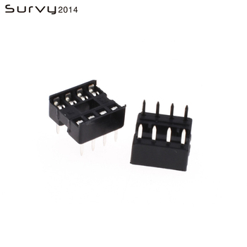 цена на 20PCS IC Socket DIP-8P Pin 2.54mm Integrated Circuit Adaptor Solder Type Narrow diy electronics