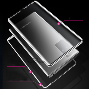 Image 3 - Magnetic Adsorption Metal bumper Case For Samsung Galaxy S20 ultra Double Sided Glass Case On S 20 Plus S20+ S20ultra Cover