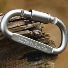 Neue Heiße Praktische 10 Pcs Schwarz D Förmigen Aluminium Legierung Klettern Keychain Ausrüstung Haken Karabiner Mosqueton Karabiner L6W5