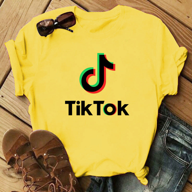 Tok tik T shirt Girls Streetwear Tops Hot Sale Aesthetic clothing Music Dance Funny Gift Printing Short Sleeve T shirt Women Top|T-Shirts|   - AliExpress