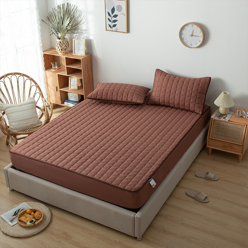 Водонепроницаемая дышащая Защитная наматрасник для кровати, мягкая стеганая натяжная простыня, устойчивая к пятнам простыня, постельное б...