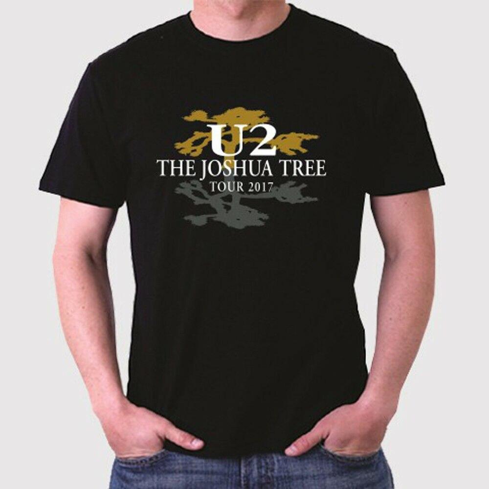 U2 Мужская черная футболка с логотипом Джошуа, размер от S до 3XL