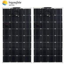 الصين أحادية الخلايا الشمسية عالية الكفاءة 100 واط سعر المصنع تصاعد ألواح الطاقة الشمسية المصنوعة من خلية فولطا ضوئية للبيع 12 فولت شاحن بالطاقة الشمسية 200 واط 300 واط 400 واط