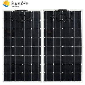 Image 1 - الصين أحادية الخلايا الشمسية عالية الكفاءة 100 واط سعر المصنع تصاعد ألواح الطاقة الشمسية المصنوعة من خلية فولطا ضوئية للبيع 12 فولت شاحن بالطاقة الشمسية 200 واط 300 واط 400 واط