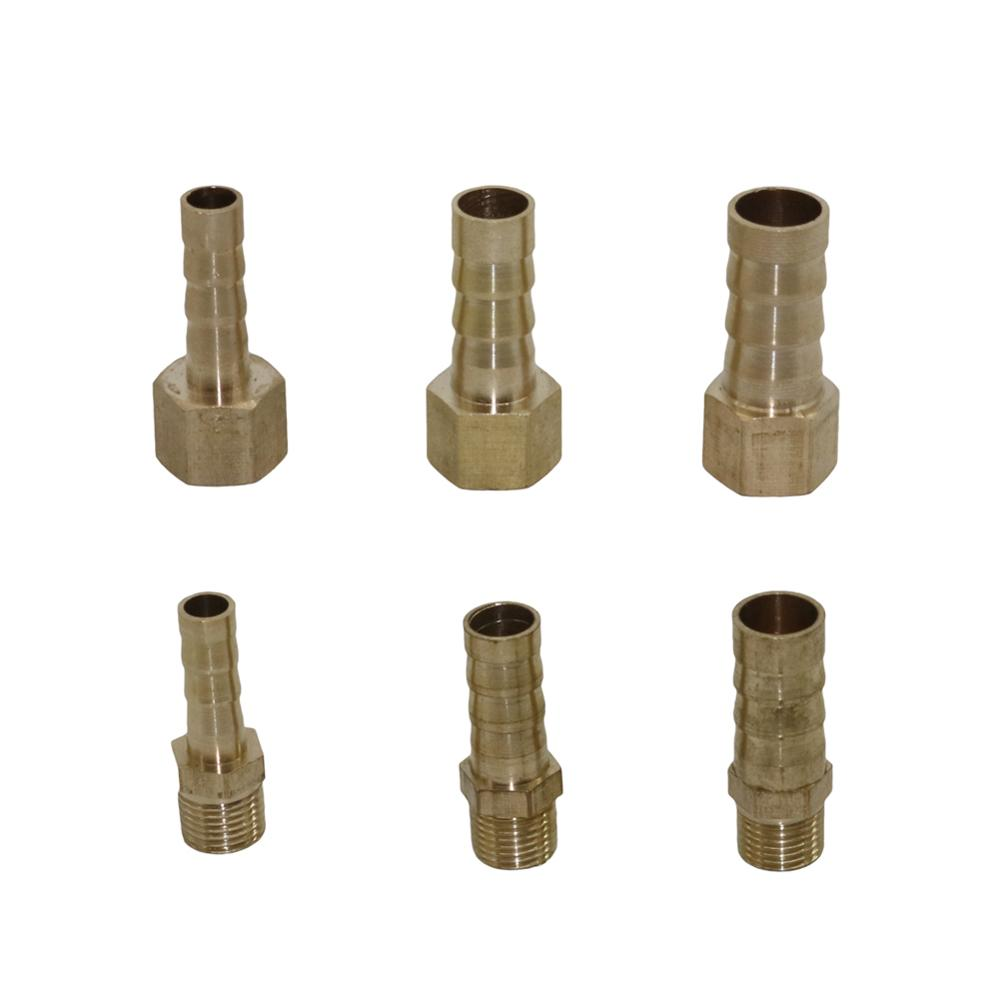 "Brass Pipe Fitting 6mm 8mm 10mm Hose Barb Tail 1/8""BSP Male Female Connector Joint Brass Coupler Adapter Pipe Fittings 1Pc"