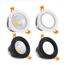 круглый с регулируемой яркостью встраиваемый LED Downlight 3w 5W 7W 9W 12W 15W 18W COB LED Ceiling Lamp Spot Lights AC110-220V LED Lamp