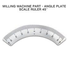 PINTUDY Protractors Fräsen Maschine Teil-Winkel Platte Skala lineal 45 Grad Winkel Arc M1197 Mess Gauging Werkzeuge 2019 Neue