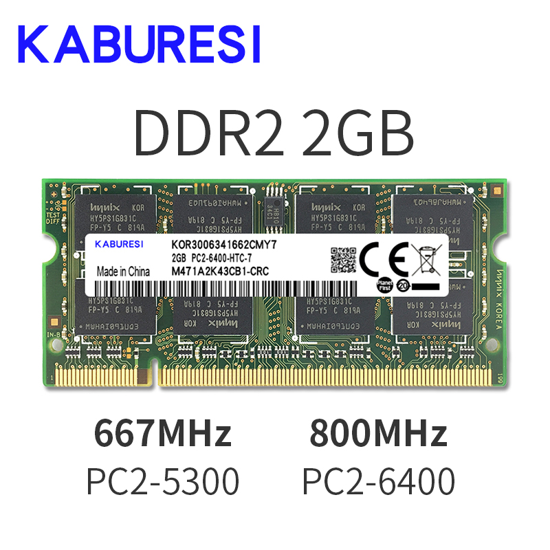 Binful <font><b>4GB</b></font>(2x2GB) <font><b>DDR2</b></font> PC2-5300 <font><b>667mhz</b></font> PC2-6400 800mhz <font><b>4GB</b></font>(Kit of 2,2X2GB for Dual Channel) Memory Ram Laptop Notebook image