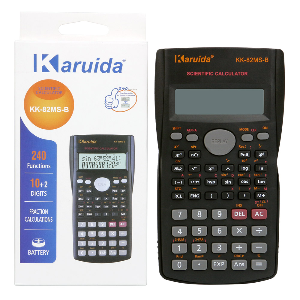 Portable Student Scientific Calculator 2 Line Display 82MS-A Functions Electronic Calculating Tool Pocket Calculator