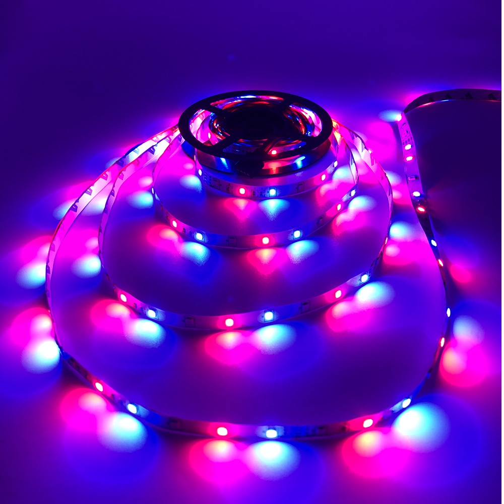 H8aa5fc9aa75b4738b6292670d1d4df27b - 5m 2835 3528 LED Strip Desk Lamp RGB White Red Green Blue Yellow 300Leds IR Remote Controller Holiday Light Night Garden Light