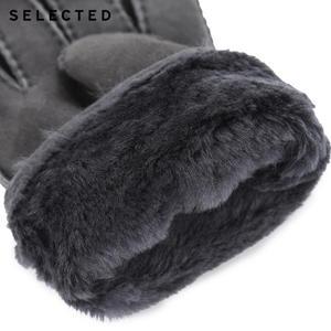 Image 4 - GESELECTEERD mannen Pure Kleur Wollen Lederen Handschoenen EEN