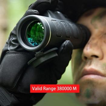 Monokularni 40X60 zoom jasen šibki žepni teleskop za nočni vid z držalom za pametni telefon za kampiranje