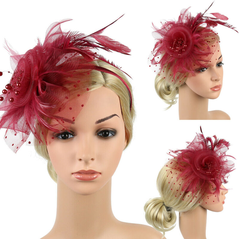 Large Headband Aliceband Hat Fascinator Weddings Ladies Day Race Royal Ascot NEW