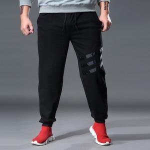 Image 2 - איש מסלול מכנסיים זיעה רצים רופף אלסטי למתוח בתוספת גודל גדול 6XL 7XL Broek Mannen מכנסי טרנינג ספורט Hombre גברים של בגדים