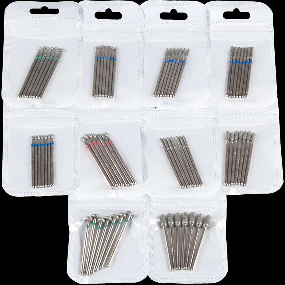 7pcs/Set Diamond Cutters For Manicure Nail Drill Bits Milling Cutter For Pedicure Machine Remove Gel Nails Accessories Tools