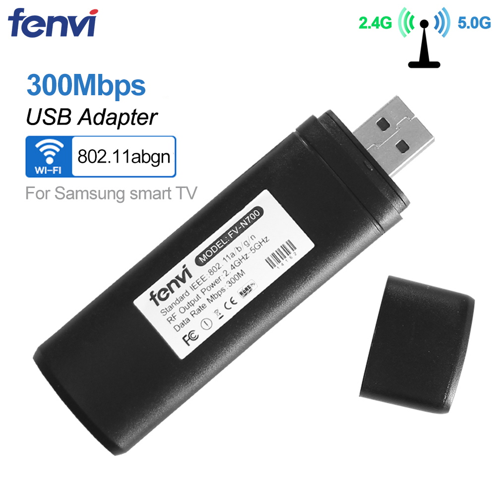 300Mbps Wireless USB Wifi Adapter Ralink RT3572 For Samsung Smart TV Dual Band 2.4Ghz/5Ghz 802.11a/b/g/n WIS12ABGNX WIS09ABGN