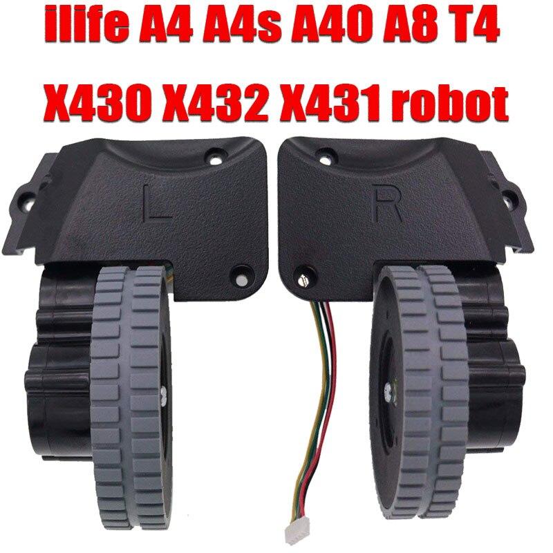 Wheel Robot Vacuum Cleaner Parts Accessories For Ilife A4 A4s A40 A8 T4 X430 X432 X431 Robot Vacuum Cleaner Wheels Motors