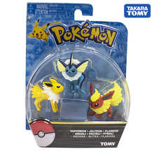 TAKARA TOMY Japan Anime Vaporeon Jolteon Flareon Figure Collectibles Pocket Monster Pokemon Dolls for Children Gifts