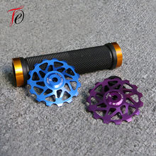 Mountain Rear Derailleur Bearing Guide Wheel Ceramic 15t15 Tooth Metal Transmission Gear Guide Wheel Fidget Spinner(China)