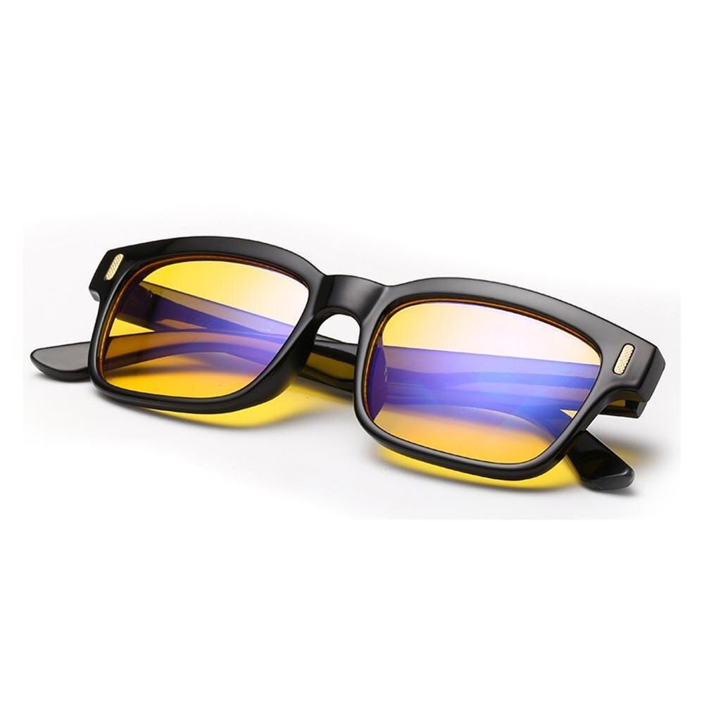 Cyxus Blue Light Blocking Computer Glasses Anti Eye Strain UV Protection Gaming Men/Women Eyewear Yellow Lens Black Frame -8084