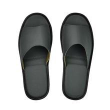 Hakiki inek deri terlik çift kapalı kaymaz erkekler kadınlar ev moda rahat tek ayakkabı TPR yumuşak taban bahar yaz