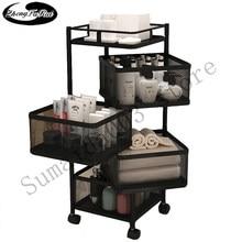 ZhengFuRui-estante de almacenamiento de cocina, estante giratorio de múltiples capas para frutas y verduras, con ruedas, estante móvil de gran capacidad