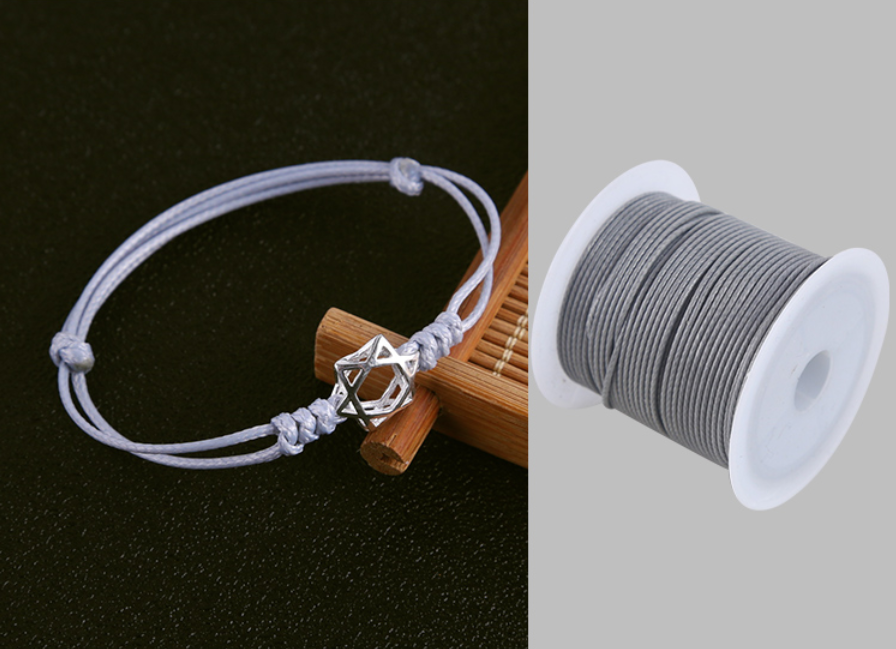 0.5/0.8/1.0/1.5/2.0mm Waxed Cotton Cord Waxed Thread Cord String Strap Necklace Rope For Jewelry Making For Shamballa Bracelet 5